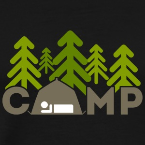camping Outdoors - Premium T-skjorte for menn