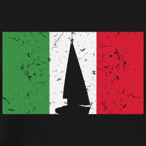 Sailboat - Flag - Italy - Men's Premium T-Shirt