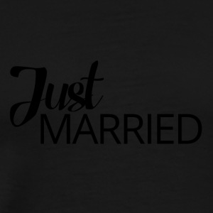 Wedding / Äktenskap: Just Married - Premium-T-shirt herr