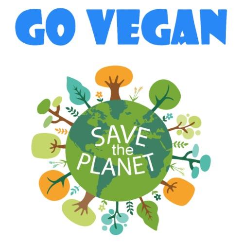 Go Vegan Save the Planet - Männer Premium T-Shirt