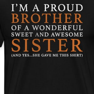 Original Brother Sister Gift: Bestill her - Premium T-skjorte for menn