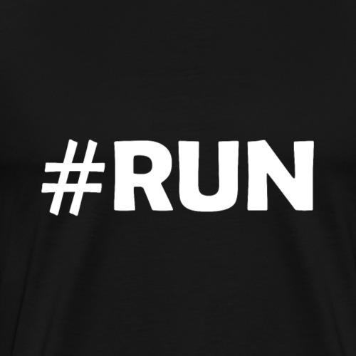 Running Run #run Sport Laufen - Männer Premium T-Shirt