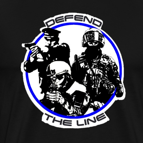 Defent The Line 3 - Männer Premium T-Shirt