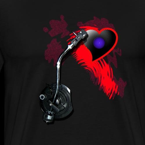 Turntable-Systemarm mit Herz - Männer Premium T-Shirt