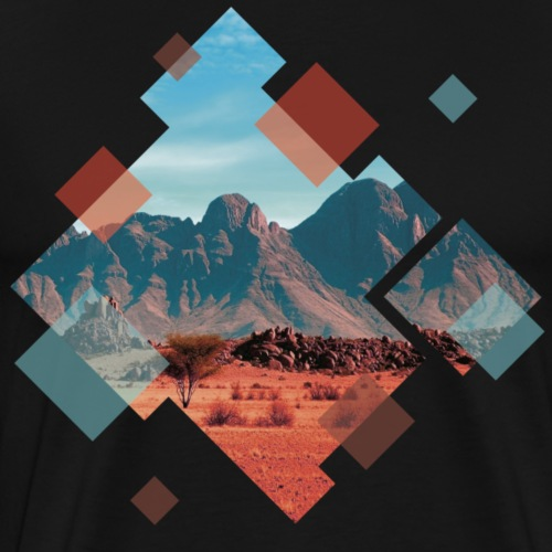 Landschaft in geometrischen Formen - Männer Premium T-Shirt