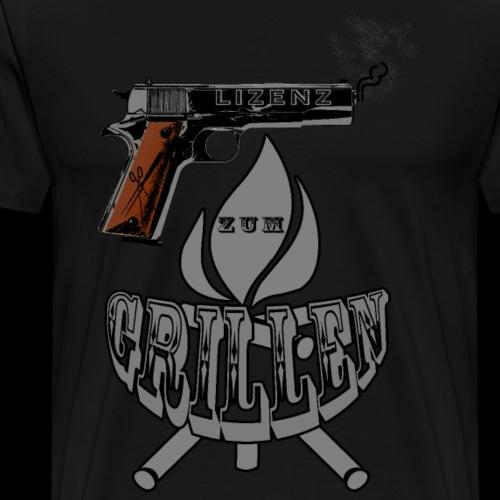 Lizenz zum Grillen - Männer Premium T-Shirt