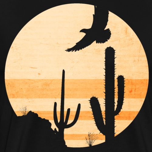 Desert Illustration - Männer Premium T-Shirt