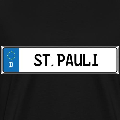 Kennzeichen St.Pauli - Männer Premium T-Shirt