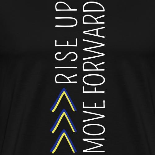 RISE UP MOVE FORWARD | The colorful zebra - Men's Premium T-Shirt