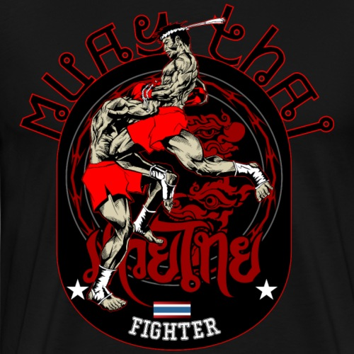 Muay Thai Fighter T-Shirt - Männer Premium T-Shirt