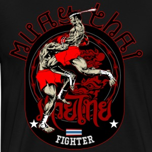 Muay Thai Fighter - Premium-T-shirt herr