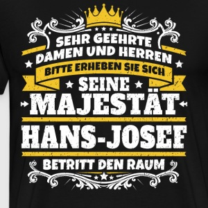 His Majesty Hans-Josef - Men's Premium T-Shirt