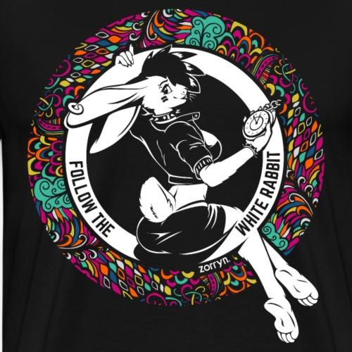 Folge dem weissen Häschen - Flowerpower Version - Männer Premium T-Shirt