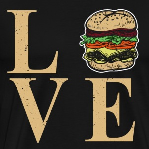 I love burgers - I Dear BBQ - Men's Premium T-Shirt