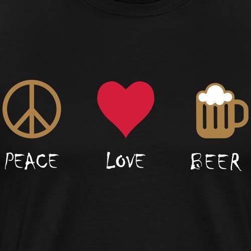Peace Love Beer - Maglietta Premium da uomo