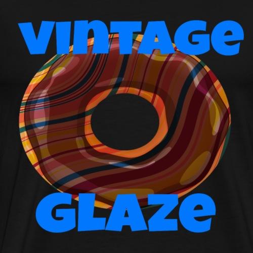Vintage Glaze sweet lovers Doughnuts shirt - Men's Premium T-Shirt