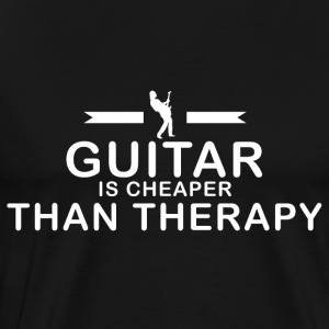 Guitar is cheaper than therapy - Männer Premium T-Shirt