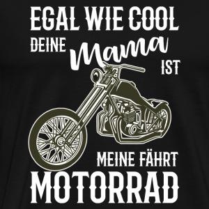 Motorrad Chopper coole Mama Geschenkidee - Männer Premium T-Shirt