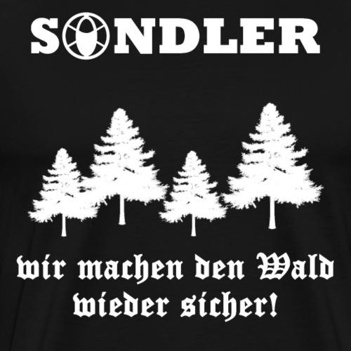 Sondeln Wald Wieder Sicher Sondler Metaldetektor - Männer Premium T-Shirt
