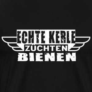 ECHTE KERLE ZÜCHTEN BIENEN - Männer Premium T-Shirt