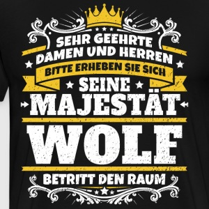 His Majesty Wolf - Men's Premium T-Shirt