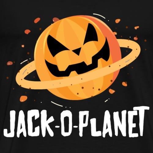 Halloween pumpkin face Jack-O-Planet - Men's Premium T-Shirt