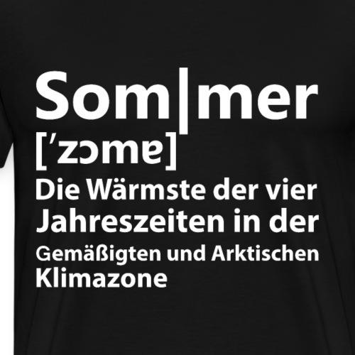 SOMMER DEFINITION - Beschreibung - Männer Premium T-Shirt