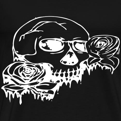 Rose skull - Miesten premium t-paita