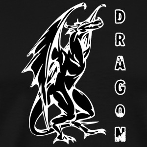 tall standign dragon sort - Herre premium T-shirt
