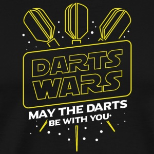 DARTS WARS - KAN DE DARTS IS MET U - Mannen Premium T-shirt
