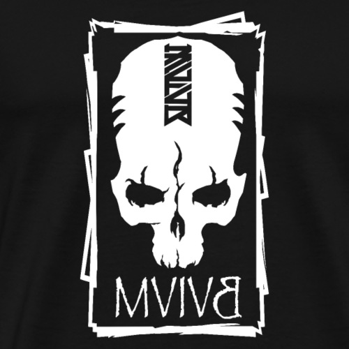 MVIVB SKULL WHITE - Männer Premium T-Shirt