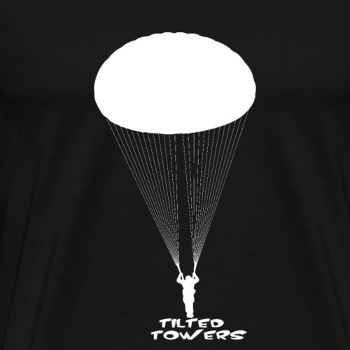 Tilted Towers Fallschirm weiß - Männer Premium T-Shirt