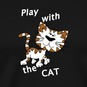 Play_Cat_Wei - 2 - Mannen Premium T-shirt