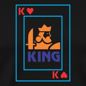 KING playing card - Men's Premium T-Shirt