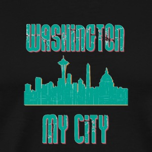Washington MY CITY - Premium-T-shirt herr
