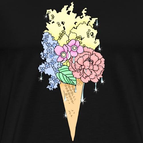 Glace aux fleurs - T-shirt Premium Homme