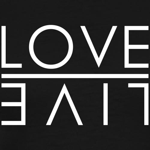 LOVE - LIVE - Männer Premium T-Shirt
