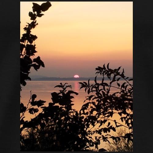 Sonnenuntergang am Chiemsee - Männer Premium T-Shirt