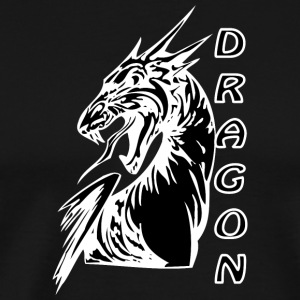 Angry dragon 2 black - T-shirt Premium Homme