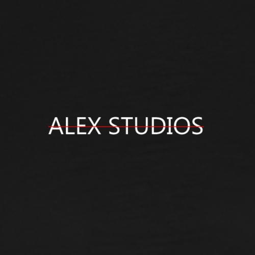 LogoAlexStudiosWhite - Männer Premium T-Shirt