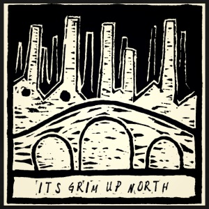 Het is Grim Up North - Mannen Premium T-shirt