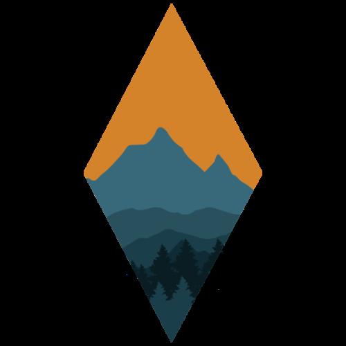 Berglandschaft   Raute Berg Baum - Männer Premium T-Shirt