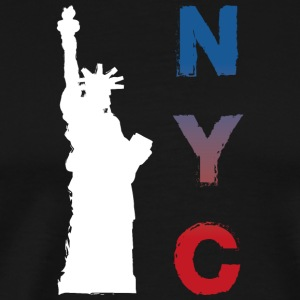 New York by - Premium T-skjorte for menn