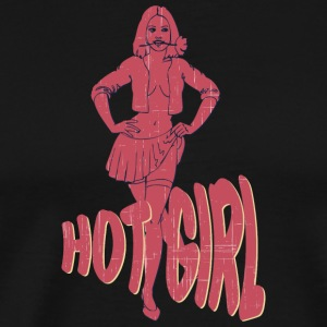 PIN UP GIRL het tjej vintage - Premium-T-shirt herr