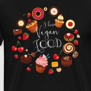 Vegan food cake pie muffin cupcake sweet Donat - Men's Premium T-Shirt