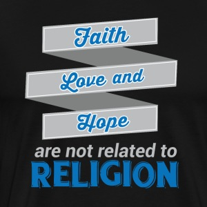 Faith Love Hope - Religion - Men's Premium T-Shirt