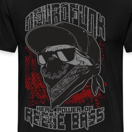 Neurofunk DNB Power Of Reese Bass - Men's Premium T-Shirt