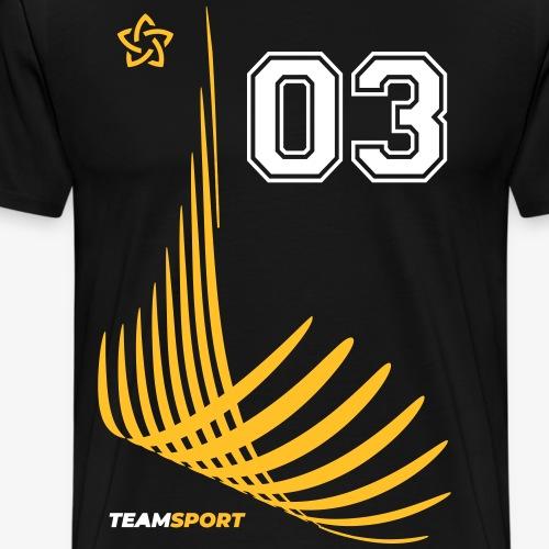 TEAM SPORT 03 TRIKOT-Trikotnummern Geschenk Shirts - Männer Premium T-Shirt