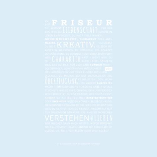 Liebesbrief an Friseure - Weiße Variante - Männer Premium T-Shirt