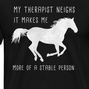 Equine therapy comic design / gift - Men's Premium T-Shirt